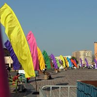 Colorful Feather Banners from Kiteman at the DTFF