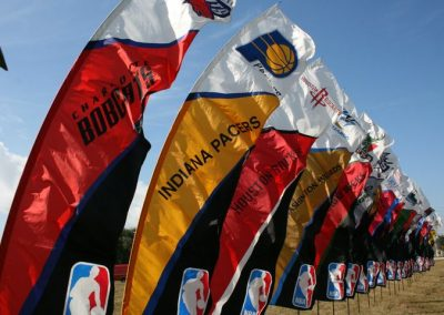 Kiteman Feather Banners™ for all NBA Teams