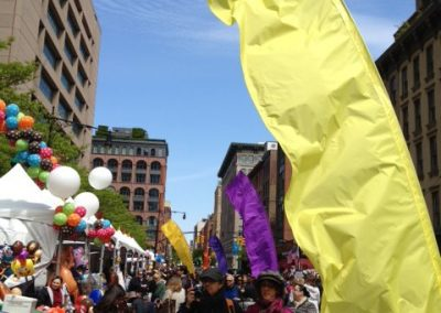 Kiteman Feather Banners Tribeca Film Festival