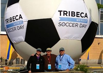 Kiteman Inflatable Soccer Ball at Tribeca Film Festival