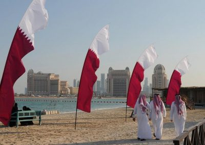 Kiteman Productions Custom Qatar Flag Feather Banner