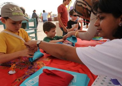 Kite Making workshop at the Doha Tribeca Film Festival