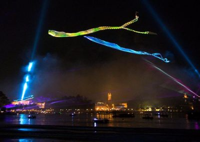 Epcot Forever Kiteman Productions LED Kites and Fireworks