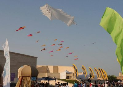 Kiteman Sidewalk Kites Feather Banners Doha Film Festival
