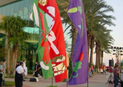 Mall at the Millenia Custom Feather Banners from Kiteman