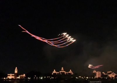 Pyrotechnic kites from Kiteman Productions at Epcot Forever