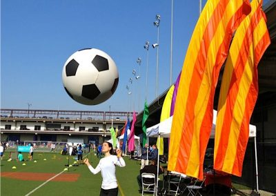 Tribeca Film Festival Soccer Day Kiteman Feather Banners