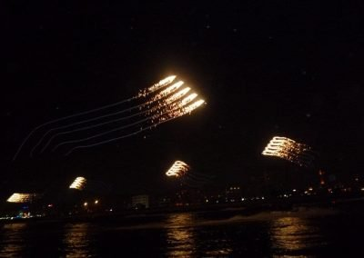 UAE Kiteman Productions Kite Trains with Fireworks